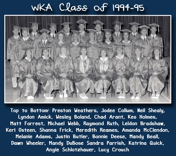 Class of 1995 | WKA Alumni 1991-2000