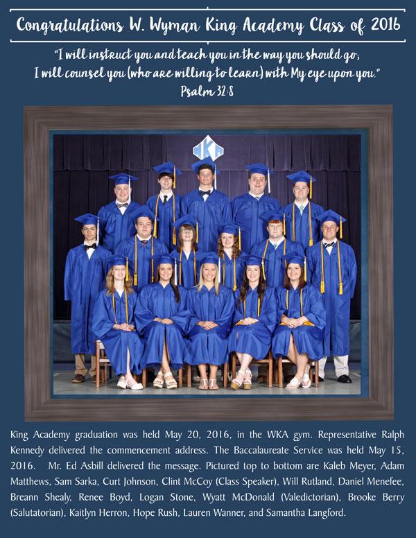 Graduation 2016 pg 1 5.30.16 | WKA Alumni 2011-Present
