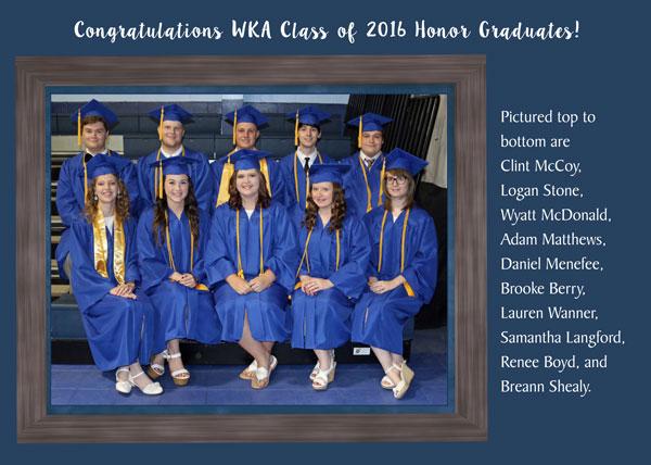 Graduation 2016 pg 2 5.30.16   Stats & Honors