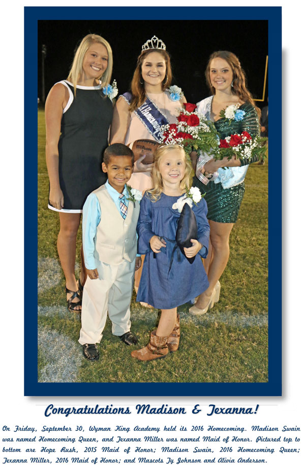 Homecoming Court 2016 Image 10.3.16 | Homecoming