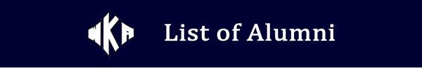 Heading 2016 List of Alumni | List of Alumni
