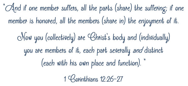 Sports Scripture 1 Cor 12:26-27 | JV Football