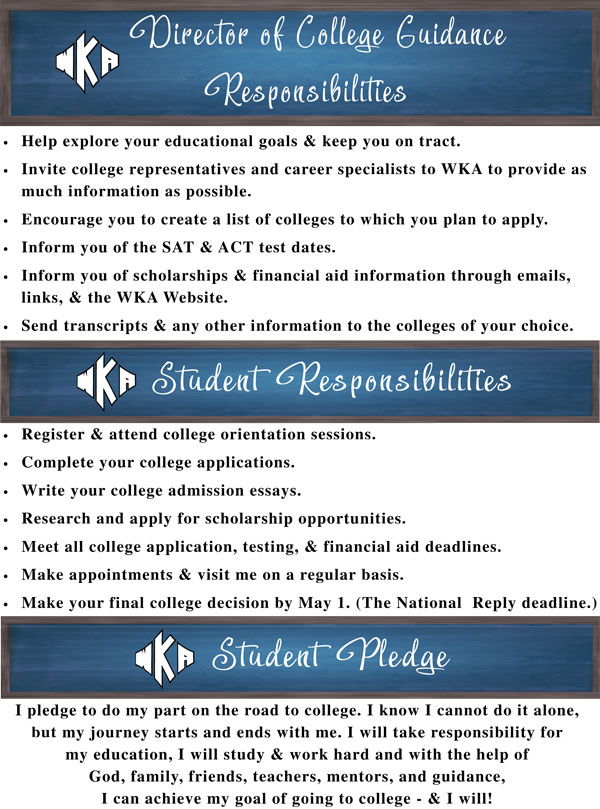 College Guidance Responsibilities 2 11.8 | College Counseling