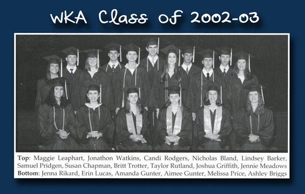 Class of 2003 2013 | WKA Alumni 2001-2010