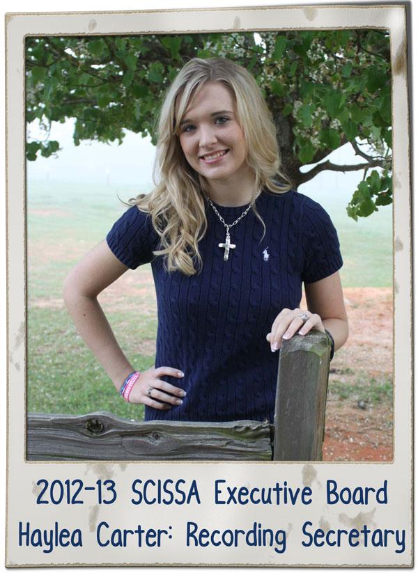 SCISSA Haylea Carter Rec Sec 2013 | SCISSA Executive Board
