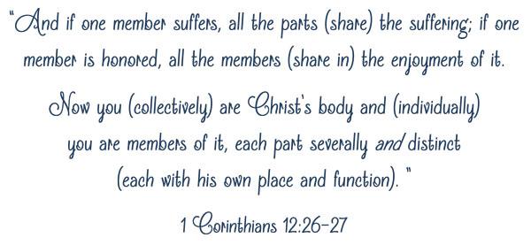 Sports Scripture 1 Cor 12:26-27 | JV Football