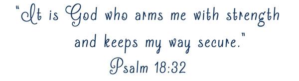 Sports Scripture Psalm 18:32 | Varsity Football